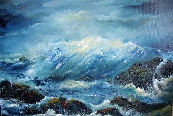 Atlantic Crash, Atlantic Ocean, Waves Crashing against Rocks, stormy seas, west coast of Ireland, stormy skies, © www.donnamcgee.ie
